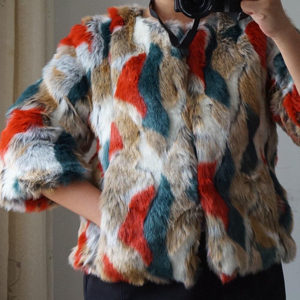Multicolore Douille Fourrure Femmes Tops 3xl Courte Quarts Pour Gtgyff De Artificielle bleu Mode Conception Rouge Faux Veste Vestes Trois S xq7I6wvw0