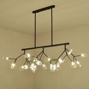 Image 3 - Lampe suspendue suspendue en forme de luciole, en noir et en or, design moderne, luminaire dintérieur, luminaire dintérieur, luminaire dintérieur, livraison directe