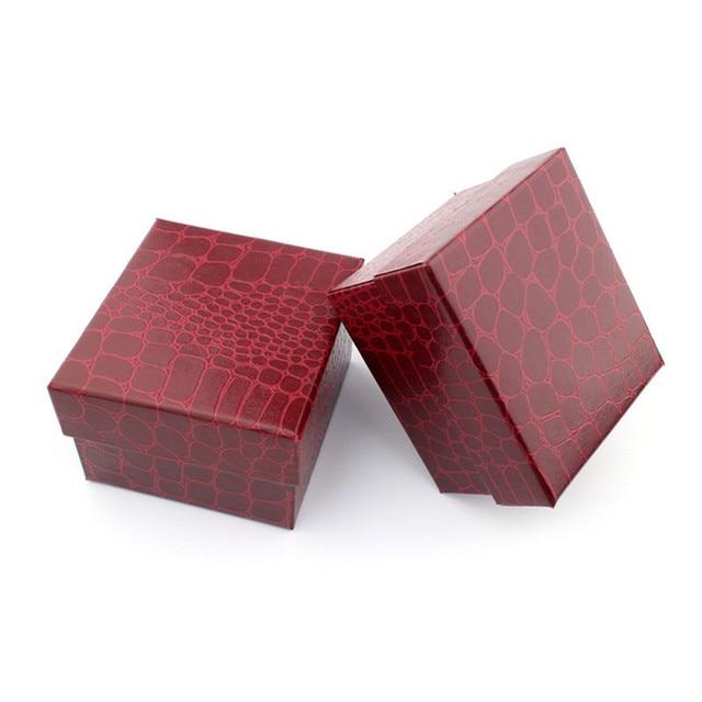 Crocodile Durable Present Gift Box Case For Bracelet Bangle Jewelry Watch Box