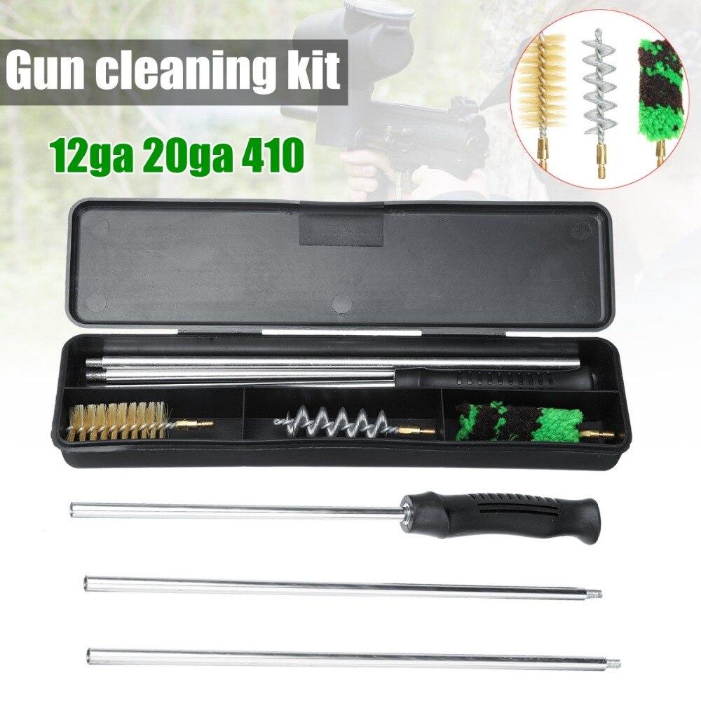 Universal Gun Kit De Limpeza Para Rifle Pistola Revólver Shotgun Profissional Conjunto Escova de Arma De Limpeza Arma Ferramenta de Caça Acessórios