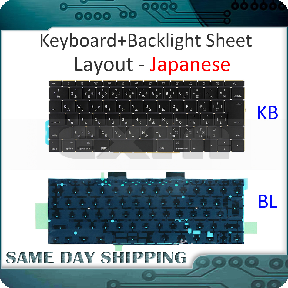 NEW for Macbook Pro Retina 13 A1708 Keyboard JP Japanese Japan with Backlight Backlit EMC 3164 EMC 2974 MLL42 MPXQ2 2016 2017 jp japan keybord for asus zenbook ux390 ux390ua with backlit keyboard jp layout