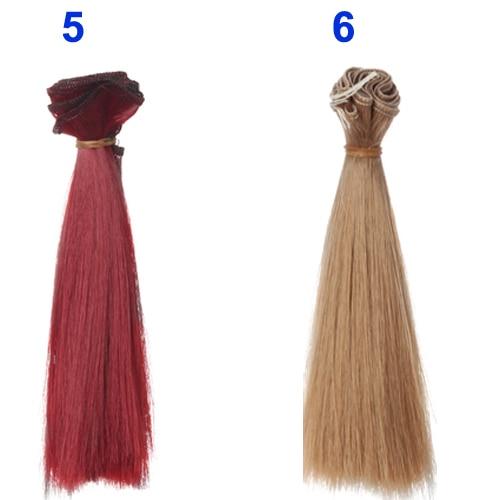 1pcs-hair-refires-bjd-hair-15cm100CM-black-gold-brown-khaki-white-grey-color-short-straight-wig-hair-for-13-14-BJD-diy-4