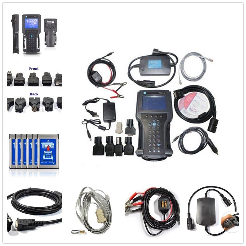 2018 tech2 diagnostic tool Tech 2 for G M/SAAB/OPEL/SUZUKI/ISUZU/Holden all 6 software packages high quality g m tech 2 scanner