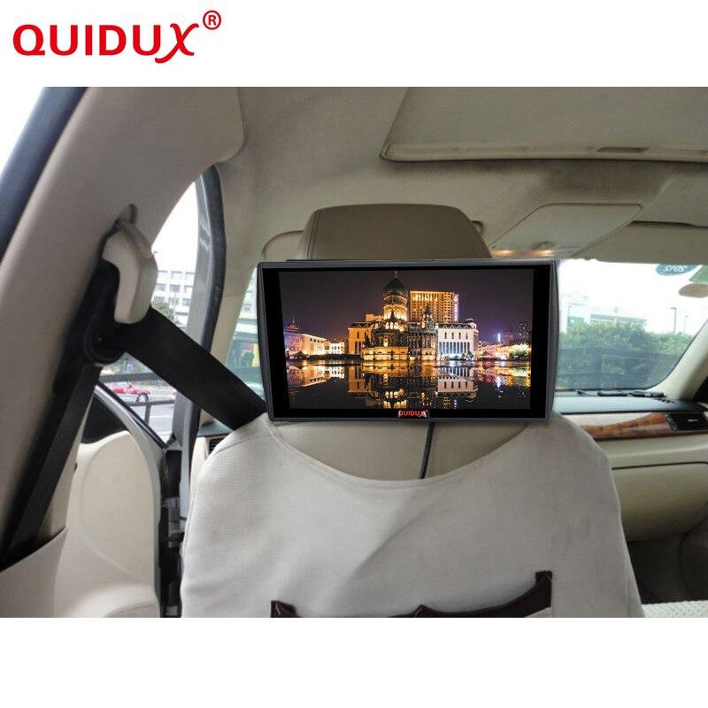 QUIDUX Nuovo Ultra-sottile 11.6 pollice 1336*768 Display ad alta definizione MP5 Monitor Dell'automobile del Poggiacapo supporto USB HDMI Player TFT Lcd