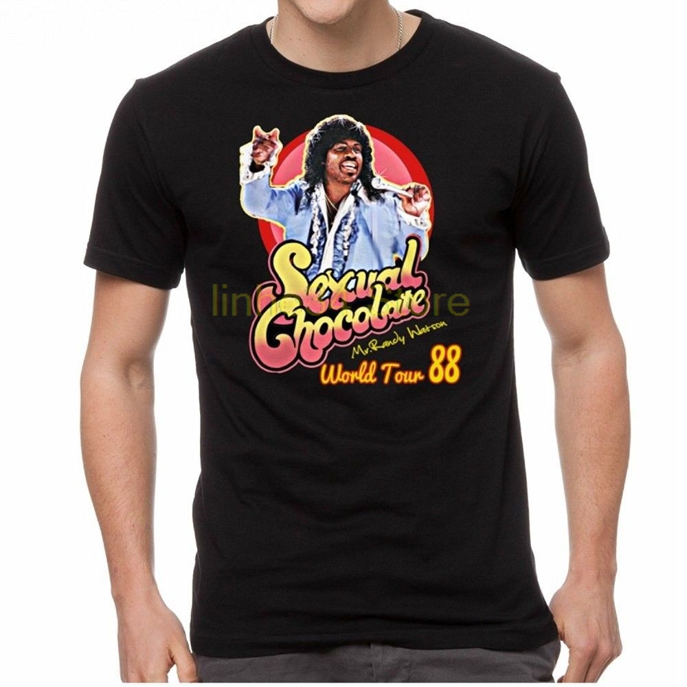 Buy Sexual Chocolate Randy Watson Eddy Murphy 1988 World Tour Funny T Shirts Black