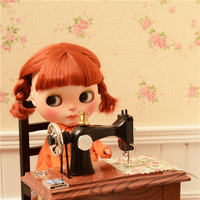 nostalgia sewing machine available for 1/6 BJD Blythes JB PULLIP AZONE DAL LICCA doll Shooting props doll accessories