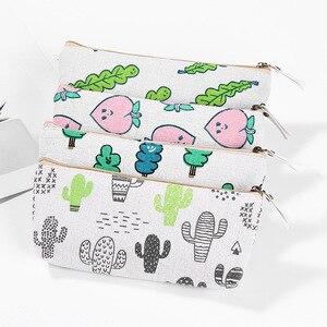 Мультяшный пенал Kawaii пенал сумка, школьные принадлежности для офиса Bts Канцтовары студентам подарок милый персиковый пенал