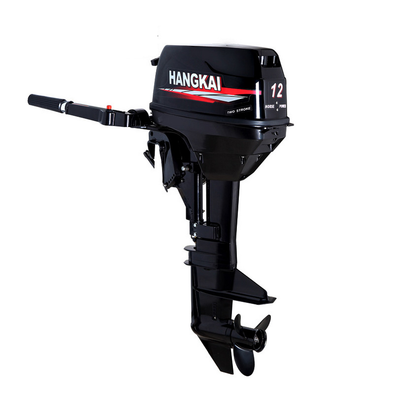 HANGKAI two cylinder 246cc 2-stroke 12HP outboard motor propeller plane hanging outboard marine motor ship kayak inflatable boat free shipping hangkai 2 stroke 4 hp outboard engines crankshaft