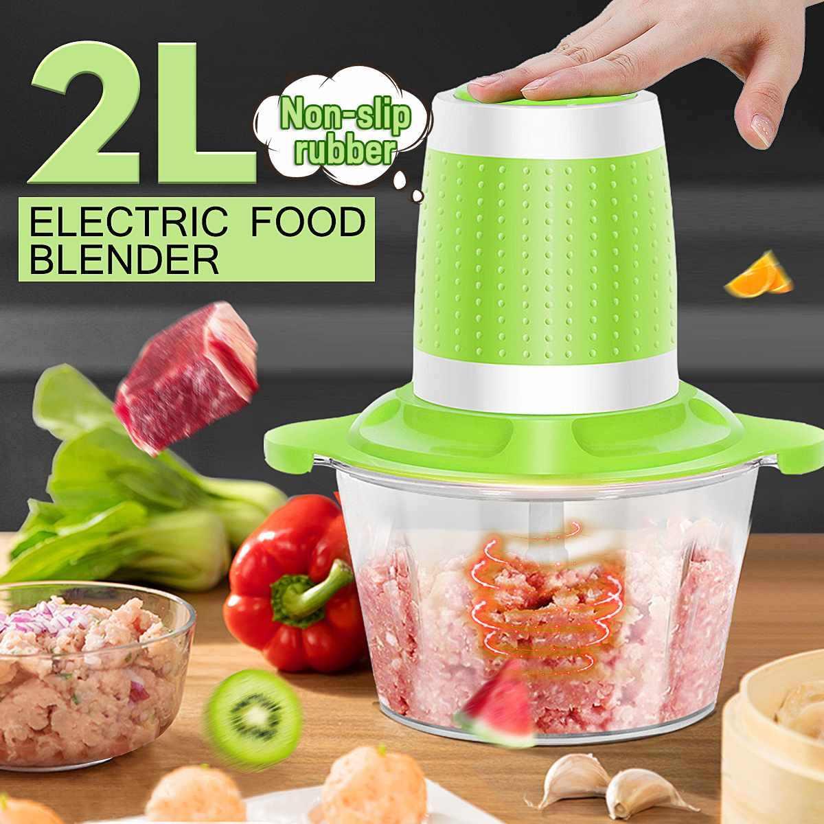 2L 220 V wielofunkcyjny elektryczny Chopper maszynki do mielenia mięsa warzyw-Blender farsz maszynka do mielenia mięsa gospodarstwa domowego procesor narzędzia kuchenne