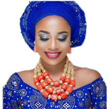 URORU Bridal Jewelry Set Earrings Necklace Bracelets African Nigerian Original Coral Beads Jewelry Set For Women Turkish Wedding fashion orange red artificial coral necklace nigerian wedding african beads jewelry set for women acb 06