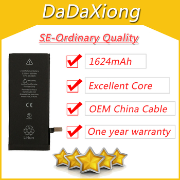 10pcs/lot Real 1624mAh Core USA Protection board 3.7V Zero cyclic Battery for iPhone SE replacement repair parts SE-A