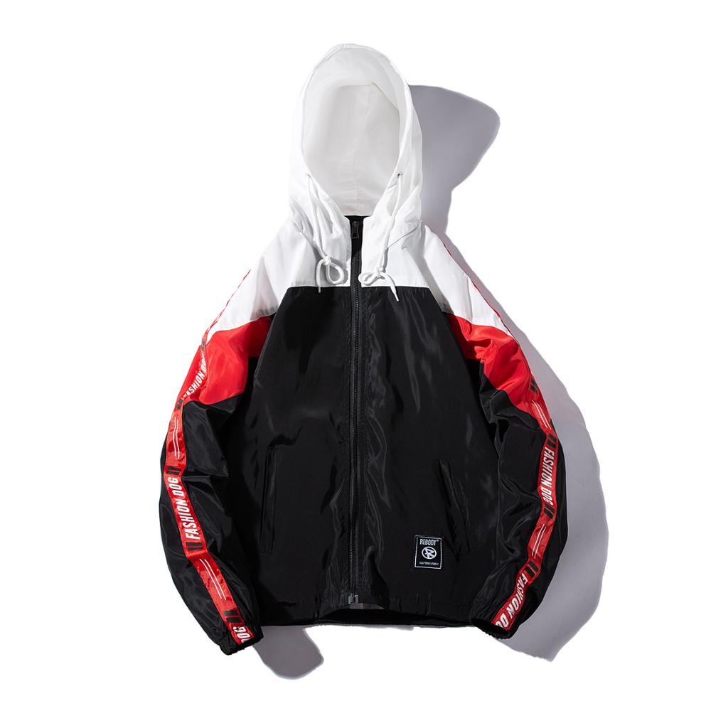 LES KOMAN Spring Autumn Men/Women Jacket Couple Casul Streetwear Hooded Sports Coats Windbreaker Outwear