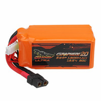 Giant Power DINOGY ULTRA GRAPHENE 2.0 18.5V 1300mAh 80C 5S Lipo Battery Rechargeable XT60 Plug Connector For RC Models Part