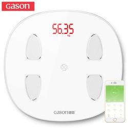 GASON S6 Escala de grasa corporal piso científica electrónica inteligente LED Digital peso Báscula de baño equilibrio Bluetooth APP Android o IOS
