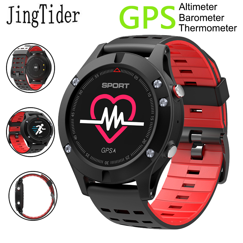 """New F5 Sport Bluetooth Smart Watch GPS Smart Wristwatch 0.95"""" Heart Rate Monitor Fitness Tracker Altimeter Barometer Thermometer"""
