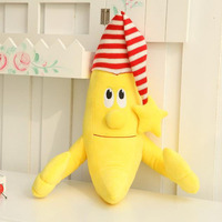 Nooer Cartoon Kawaii New Plush Stuffed Banana Man Wear Cap Toy Soft Safe Baby Sleep Pillow