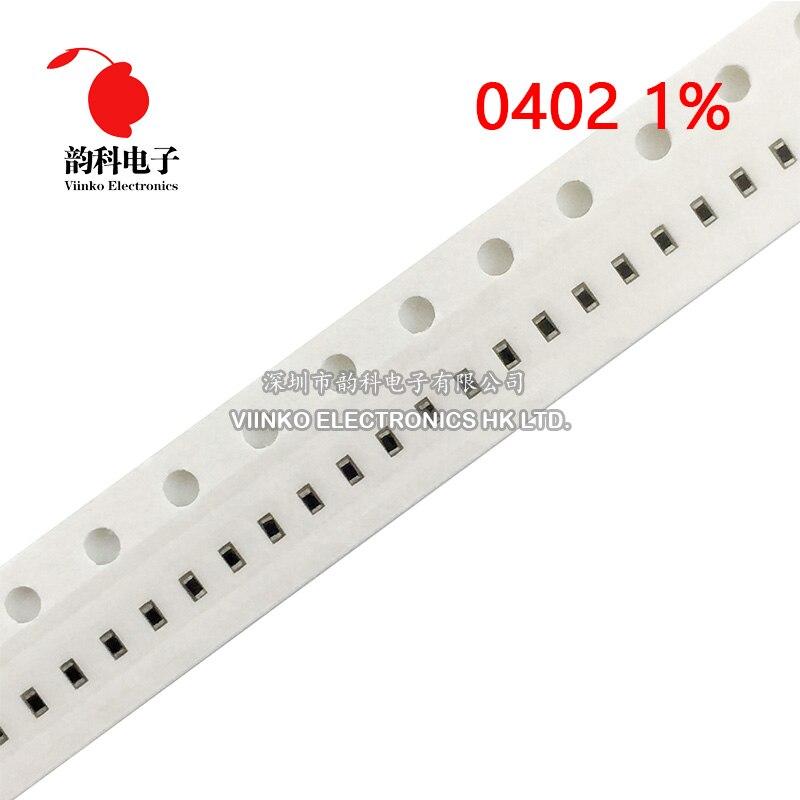 0 Ohm to 1M Ohm 100PCS 0402 SMD//SMT Resistors ±5/% 1//16W Range