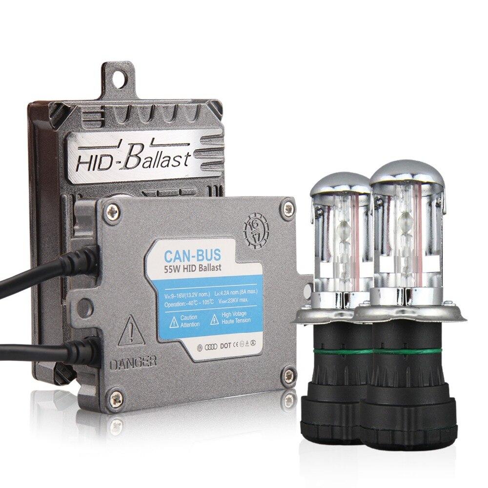 55W AC HID Xenon Kit Canbus Ballast X55 with Car Headlight Bulb H1 H3 H4-3 H7 H11 9005 9006 5000K 6000K 8000K Canbus No Error buildreamen2 55w 9005 hb3 h10 car light headlight canbus hid xenon kit 3000k 8000k ac ballast bulb decoder anti flicker no error