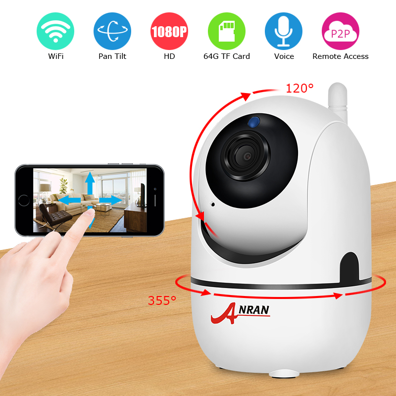 ANRAN 1080P IP wireless Security Home Video Surveillance Mini Camera Two-Way Audio Baby Monitor Night Vision Security Camera fghgf 720p wireless ip security camera baby pet video monitor home security system with pan and tilt two way audio night vision