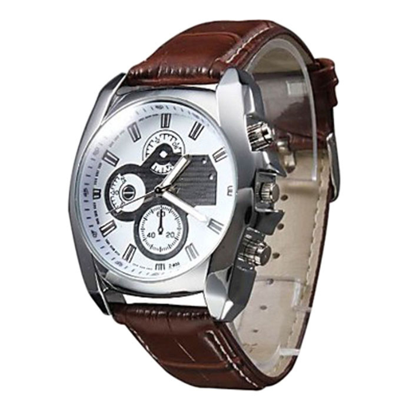 Excellent Quality Watches Men Luxury Brand Quartz Watches Men Leather Watch Casual Male Clock relojes hombre Relogio Masculino v6 luxury brand beinuo quartz watches men leather watch outdoor casual wristwatch male clock relojes hombre relogio masculino