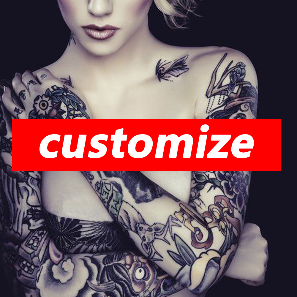 Personal Temporary Tattoo Customized Sticker Tattoo DIY Personal Custom Make Tatoo Palsu Untuk Cosplay Company Logo