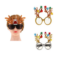 New Glitter Christmas Reindeer Party Glasses Fancy Dress Funny Sunglasses For Wedding Party Decoration Night Party