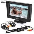 """Venda quente! LCD carro Monitor de 4.3 """"Câmera Retrovisor Do Carro 640*480 Transmissor Sem Fio Rear View Night Vision Backup Reversa Ca"""