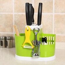 New Kitchen Knife Rack Holder Multifunctional Ceramic Knife Holder Plastic Knife Block Tools High Quality Storage Racks