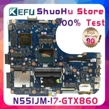 KEFU N551JM For ASUS G551JM N551JW N551JX N551JQ G551JK N551JK I7-4710HQ laptop motherboard tested 100% work original mainboard for asus k60ij laptop motherboard mainboard 100% tested free shipping