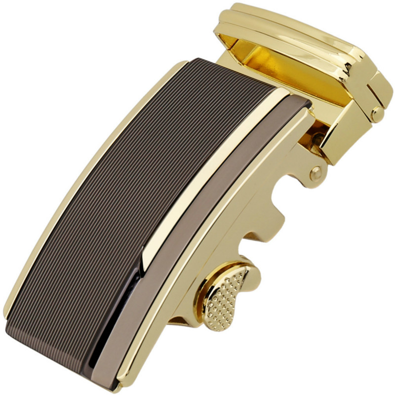 Fashion Men's Business Alloy Automatic Buckle Unique Men Plaque Belt Buckles For 3.5cm Ratchet Men Apparel Accessories Gu4512