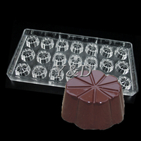 Lucky Leaf Clover 21 Cavities Flower Shaped Polycarbonate Chocolate Mold Jelly Baking Tray Pudding DIY Tools PC  Baking Mould