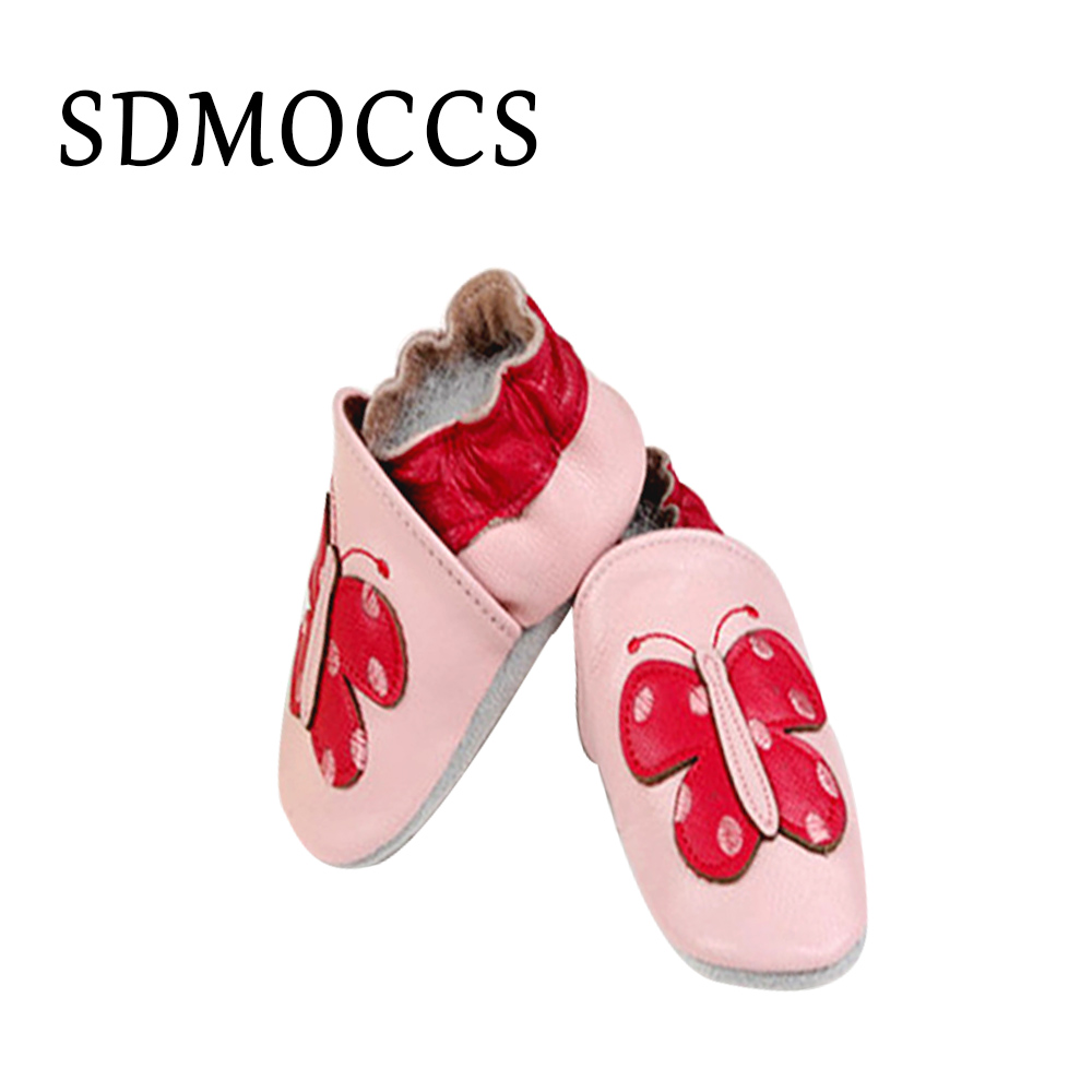 SDMOCCS New baby leather shoes first walkers moccasins for baby boys 0-24months dropshipping