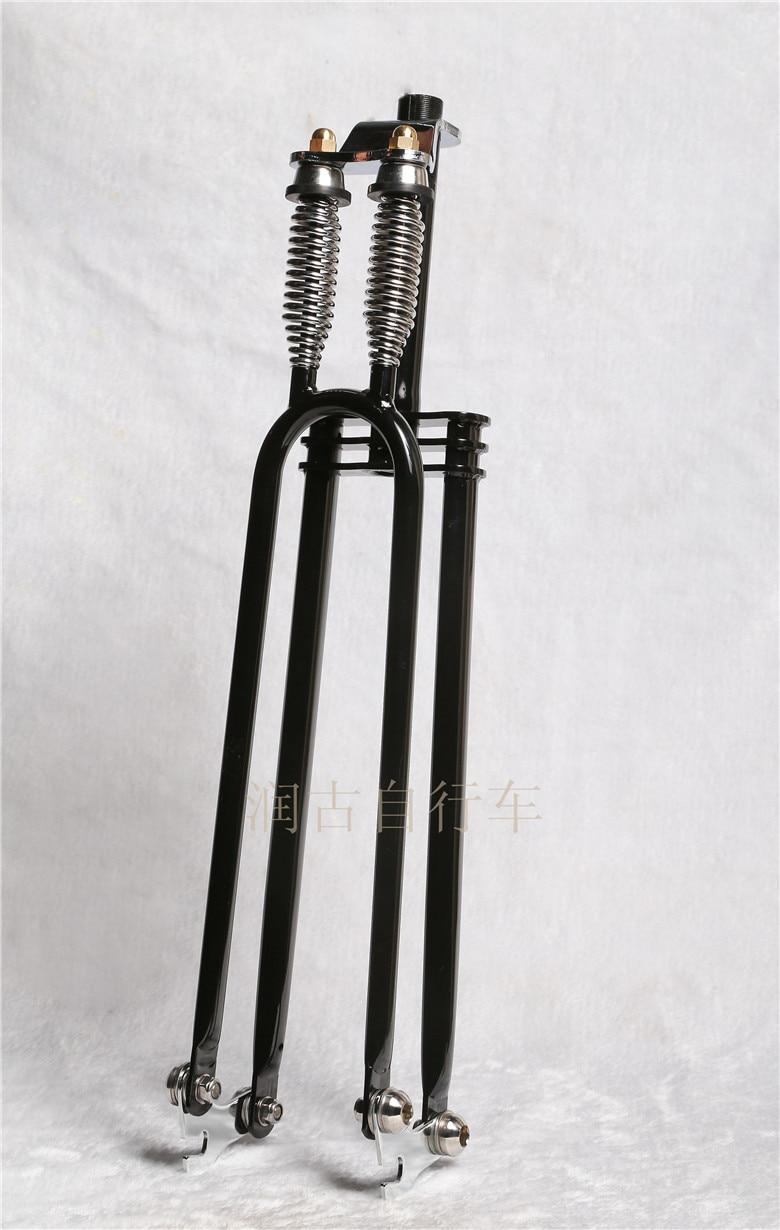 new 26 inch retro double spring suspension bike fork bicycle forks vintage bicycle forks fuel. Black Bedroom Furniture Sets. Home Design Ideas