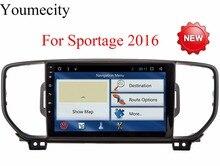 Новинка! 4 г 9 дюймов! sportage R/Sportage 3 2 DIN Android 6.0 dvd-плеер автомобиля GPS WIFI для Kia Sportage 2016 2017 лет CANBUS коробка Бесплатная