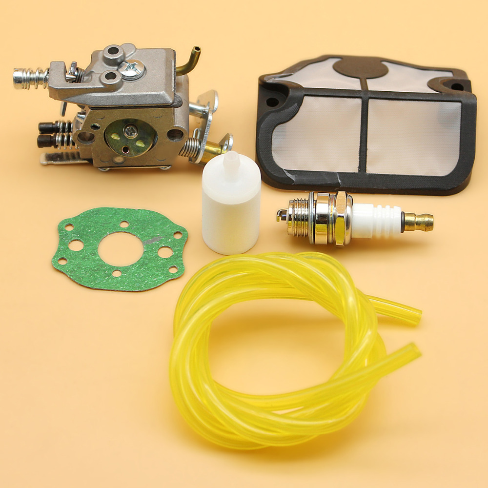 Carburetor Carb Air Filter Fuel Line Spark Plug Kit For HUSQVARNA 136 137 141 142 41 36 Chainsaw Replace Rebuild Parts