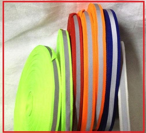 Reflective warning safety tape reflective strip Reflective ribbon for clothing customized all kinds of color width 10cm-1.5cm