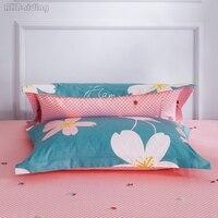 Têxtil de casa Um Par de Pássaros Da Flor Fronha 100% Algodão Fronha Decorativo Fronhas Lençóis 48x74 cm Frete Grátis