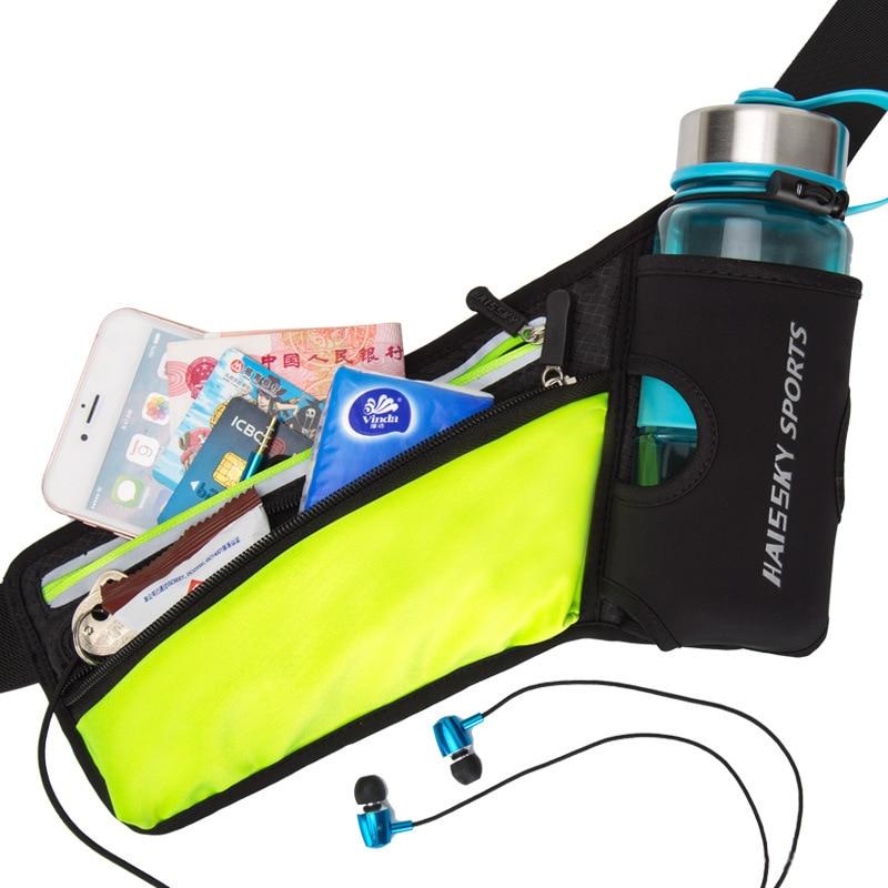 Running Belt with Water Bottle Holder HAISSKY Fitness Waterproof Bum Bag Cycling