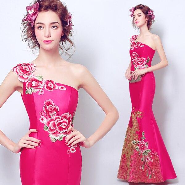 2017 Nueva Llegada Del Estilo de China vestido de noche largo de un ...