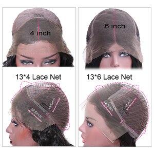 Image 5 - Nadula saç 13*4/13*6 derin dalga dantel ön İnsan saç peruk kadınlar için brezilyalı Remy saç İsviçre dantel peruk ortalama boyutu