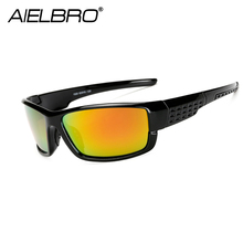 AIELBRO Polarized Sunglasses Men UV400 Brand Designer Sun Glasses Square Coating Black Fishing Driving Eyewear Goggle Oculos