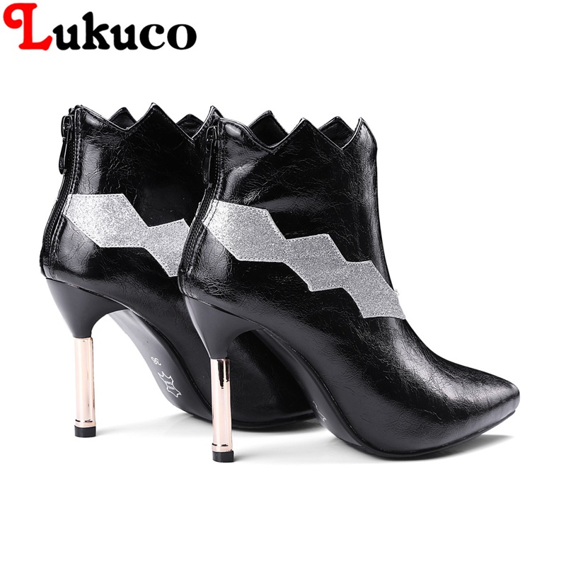 2018 MIX-COLOR lady ankle boots large CN size 36 37 38 39 40 41 42 43 high heel design women Boots real pictures free shipping