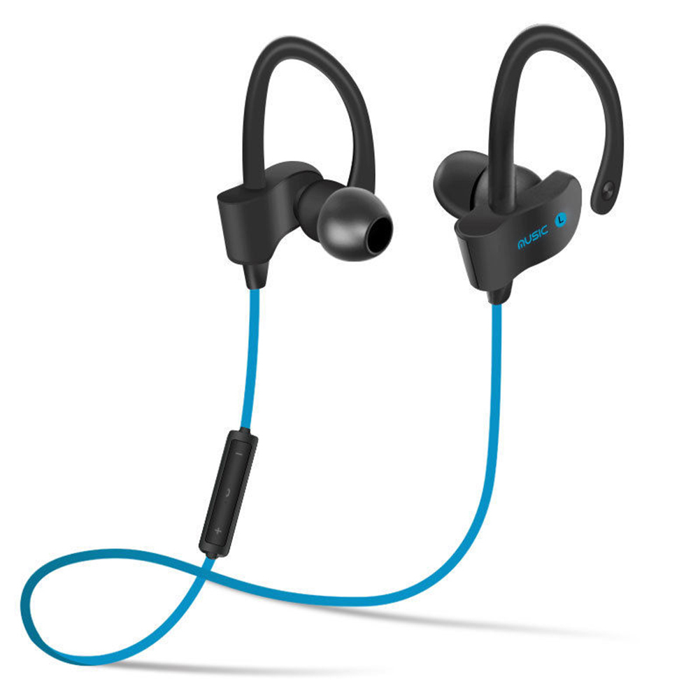 Wireless 4.1 Bluetooth Headset Hanging Ear Sport Stereo Headphone Earphone for Running Exercise Gym Universal Bluetooth earphone  wireless music bluetooth headset 4 mini head wear sport ear hanging ear type 4 1 universal running stereo can insert card radio