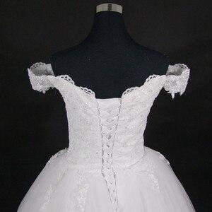 Image 3 - את האחרון ערבית תחרה כבוי כתף חתונת שמלת 2021 צווארון V כלה שמלות Vestido דה Novia
