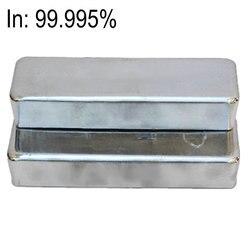 Высокая чистота Индий 4N5 в зерном слитке 99.995% 4 исследования и разработки элемент металла простое вещество CAS #: 7440-74-6