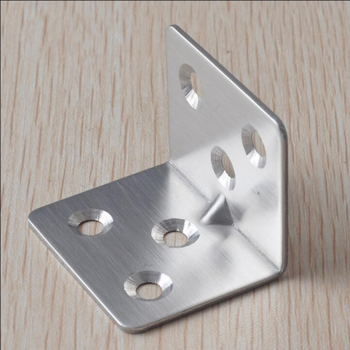 Stainless Steel Fixed Furniture Corner Brackets 90 Degrees