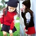 2016 New Girls Clothing Sweatshirts Winter Autumn Spring Wings Angel long sleeve Hoodies Kids Christmas Toddler Girl Tracksuit