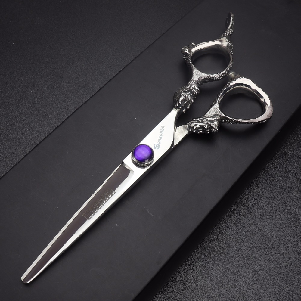 6 inch barber hair cutting hairdressing scissors professional high quality 440c dragon haircut thinning shears barbershop cliper