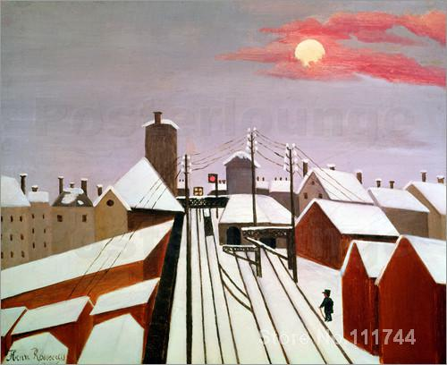 Modern art painting The Railway Henri Rousseau replicas High quality Hand painted