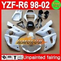 ボディ未塗装フルフェアリングキット用ヤマハyzf-r6 yzfr6 yzf600 yzf r6 600 98 99 00 01 02 1998 1999 2000 2001 2002フェアリング